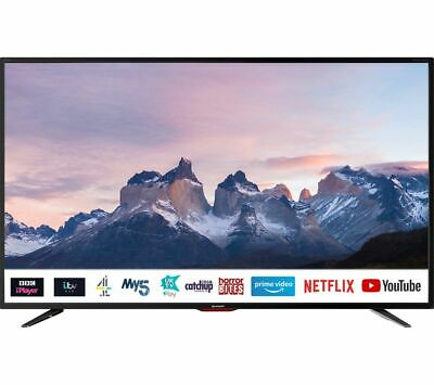"SHARP 4T-C40BJ5KF2FB 40"" Smart 4K Ultra HD HDR LED TV - Currys"