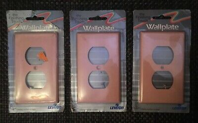 Lot Of 6 Vintage LEVITON Pink Light Switch Cover Wallplate Outlet NOS