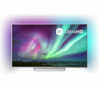 "PHILIPS Ambilight 65PUS8204/12 65"" Smart 4K Ultra HD HDR LED TV with Google Assi"