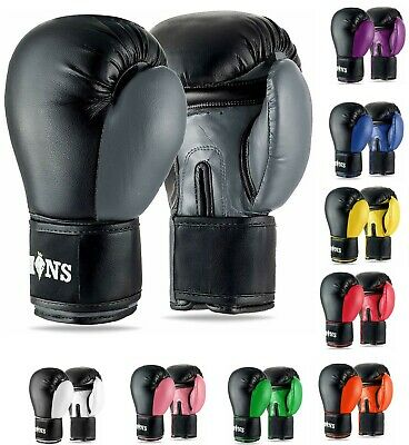 Boxing Gloves Training Sparring Punch Bag Muay Thai MMA Fighting Cage Kickboxing