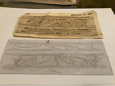 VTG Craftaid Leather Craft Western Belt Template Pattern No. 2821