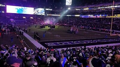 Baltimore Ravens vs Pittsburgh Steelers  2 Seats Lower Level 12/29/19  Baltimore