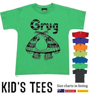 Kids Boys Girls Grug T shirt limited stock Book Retro 80's costume