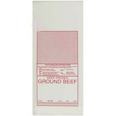 100- 1 lb. Ground Beef Meat Bags