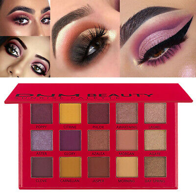15 Colors Matte Pearlescent Radiant Glitter Palette Shimmer Pigment Eye Shadow^