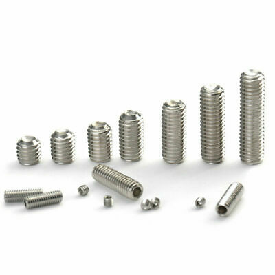M3 M4 M5 M6 M8 Stainless Steel Grub Screws Allen Socket Set Screw Cup Point