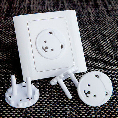 10X Child Guard Against Electric Shock EU Safety Protector Socket Cover Cap HT