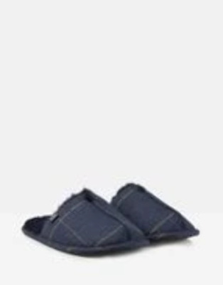 Joules Mens Furlton Tweed Mule Slipper Navy Tweed