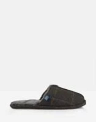 Joules Mens Furlton Tweed Mule Slipper Brown Tweed
