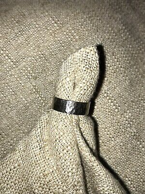 James Avery Hammered Sterling Silver Band Ring Size 7.5