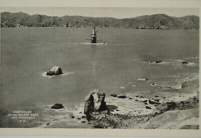 California RPPC Lighthouse at the Golden Gate San Francisco B-21 T.C. Bardell
