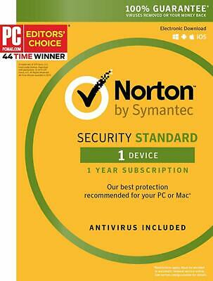 Norton Security Standard 2020 1 Device/1 Year [Digital Delivery]
