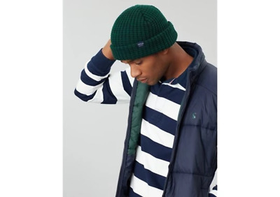 Joules Mens Bamburgh Hat Knitted Hat Racing Green