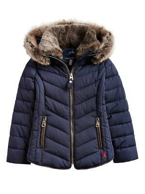 Joules Gosling Childrens Quilted Coat - Marine Navy - Ages 7-12