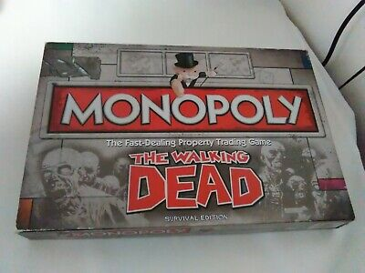 Monopoly Board Game: The Walking Dead Edition ** FREE UK P&P ** (Missing Items)