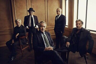 The Irishman Cast and Martin Scorsese stunning 8 x 10 Photo [RARE]