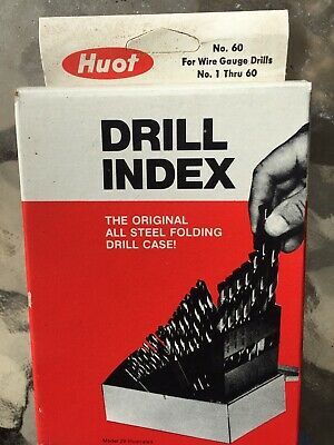1 per Pack Huot 11650 Wire Gauge Taper Length Drill Index 1 to #60,