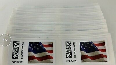 100 First Class FOREVER Stamps US Postage Stamps.com  NEW USPS