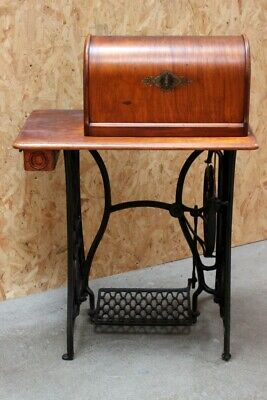 19th Century Singer 15k 'New Family' Fiddle Base Treadle Sewing Machine [5683]