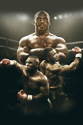 Mike Tyson Boxer Champ Art Wall Indoor Room Outdoor Poster - POSTER 24x36
