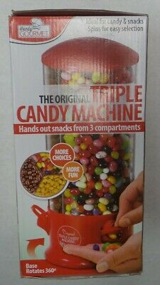 Handy Gourmet The Original Triple Candy Machine. Hands Out Snacks 3 Compartments