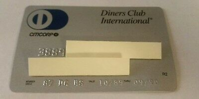 Vintage Diner's Club Credit Charge Card 1989 Unsigned