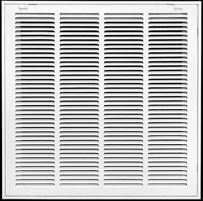 "26"" x 22"" Steel Return Air Filter Grill for 1"" Filter - Removable Face/Door - HV"