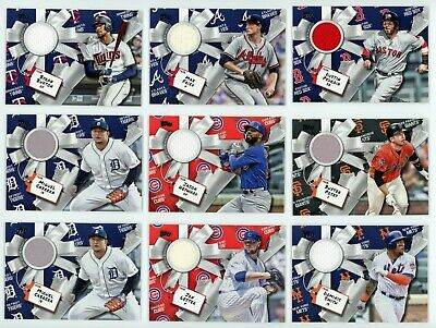 (11) HUGE 2019 Topps HOLIDAY MEGA RELIC LOT - Posey/Pedroia/Story/Swanson ++