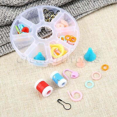 1Box Plastic Knitting Crochet Tool Needle Point Protectors Markers Pins Counters