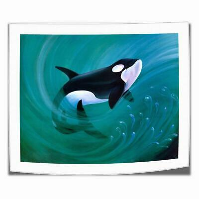 """16""""x18""""Released Whale Animal Paintings HD Print on Canvas Home Decor Wall Art"""