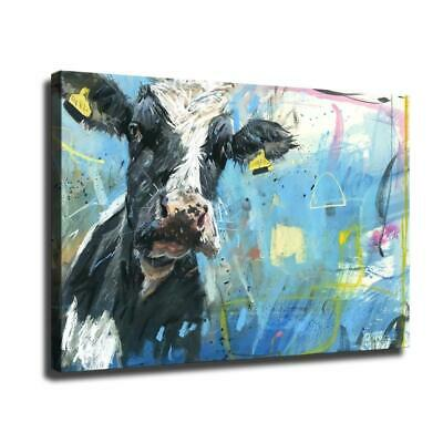 """12""""x18""""Cow in painting HD Canvas prints Painting Home Room Decor Wall art poster"""
