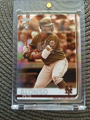 Pete Alonso Sp Sepia Refractor Rc 2019 Topps Chrome #204. Mint! See Photos.