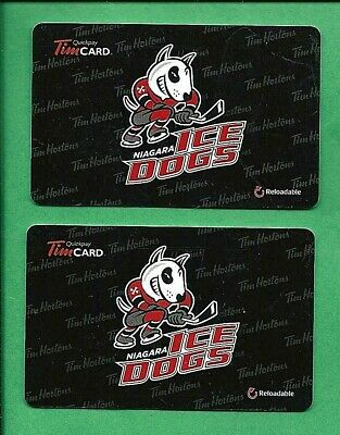 2014 Tim Hortons Niagara Ice Dogs OHL Hockey Gift Cards No  Value