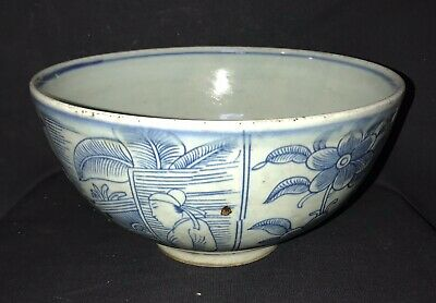 Qing qianlong bowl hand-painted flower and figures chinese antique porcelain