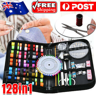 128x Portable Sewing Kit Home Travel Emergency Professional Sewing Set