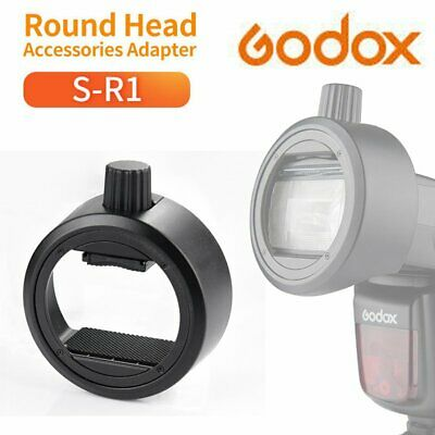 Godox S-R1 Round Head Adapter For Camera Flash Light V860II V850II TT685 TT600