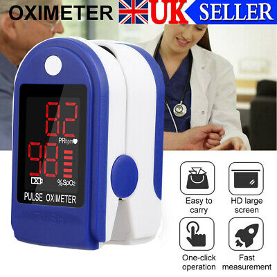Professional Finger Pulse Oximeter Blood Oxygen Saturation Monitor Heart Rate QW