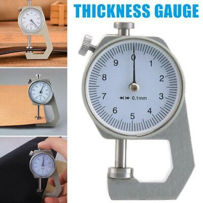 Mini Portable Thickness Gauge Leather Craft Micrometer Measure Tools Accuracy