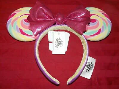 Disney Parks Mickey Minnie Mouse Lollipop Ears Headband (NEW)