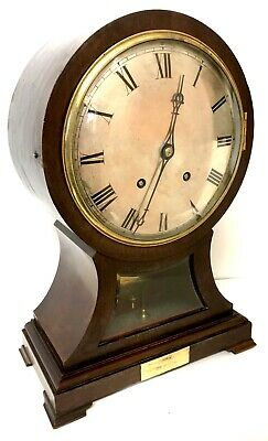 Stunning Antique W&H Ting Tang Balloon Clock With Bevelled Glass Window