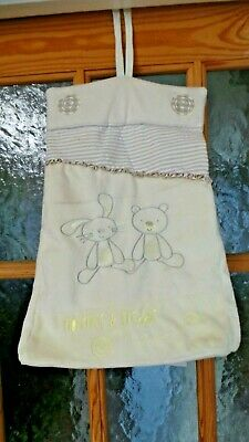 Hanging Nappy Storage Bag.cream Fleece Florence & Freddie Unisex Bunny Bear