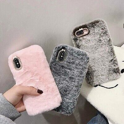 Fashion Lady Case for iPhone XS Max XR X 11 Pro Gift TPU Case Furry fluffy Warm