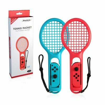 Twin Pack Tennis Racket Gaming Sensor Gamepad Kits For N-Switch Joy-Con Game US