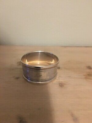 Antique Sterling Silver Napkin Ring       Birmingham 1975