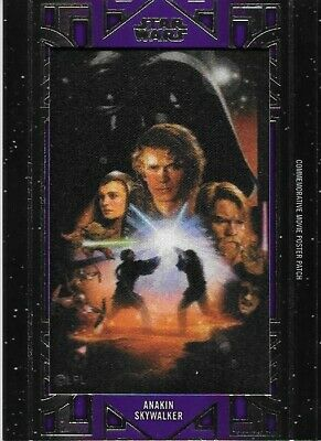 2018 Star Wars Galactic Files Purple 25 Anakin Skywalker Patch Movie Poster Card