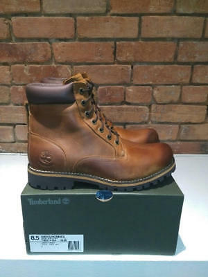 Timberland Rugged 6-Inch Waterproof Boots Copper Roughcut Leather Style 74134210