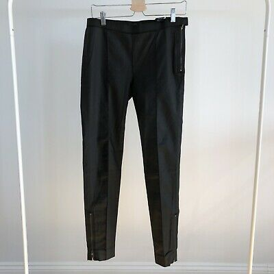 COS coated cotton zippered ankle skinny trousers Size EUR 40 Black