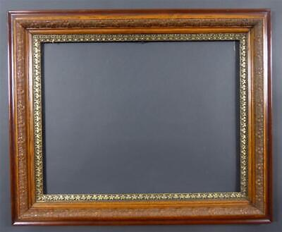 "Beautiful Large 19th Century Picture Frame with Fancy Gold Liner , 33 1/4"" X 27"