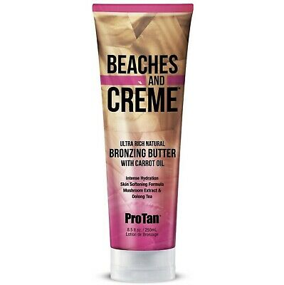Pro Tan Beaches & Creme Bronzing Butter Sunbed Tanning + Carrot Oil Lotion