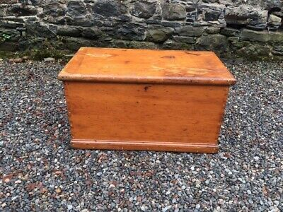 Victorian Pine Chest / Trunk / Box